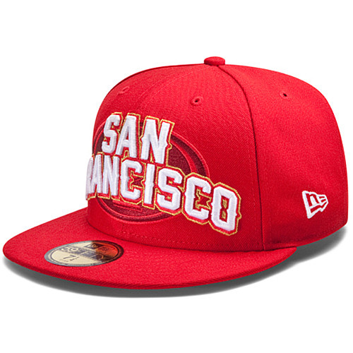 San Francisco 49ers NFL DRAFT FITTED Hat SF13